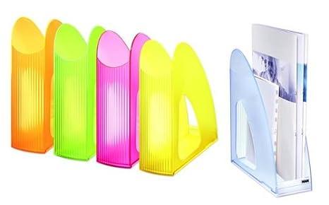 10er Packung Standfest und Funktional signal-lichtblau HAN 16110-73 Schick Stehsammler TWIN SIGNAL Modern Transparent