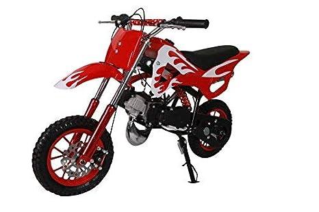 Pitbike mini 49cc Flames, con motor de 49cc de 2 tiempos automático/mini moto, mini dirt bike, minipitbike.: Amazon.es: Coche y moto
