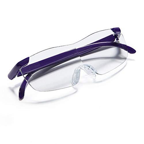 Magnifying Reading Glasses Seniors Wearing Magnifier Reading Glasses Portable Reading Glasses 100-300 Block Blue Light (Color : Purple)