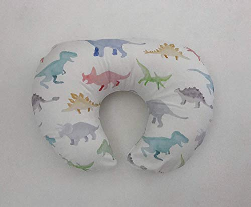 Nursing Pillow Cover - Watercolor Dinosaurs by Lullabies and Lollipops