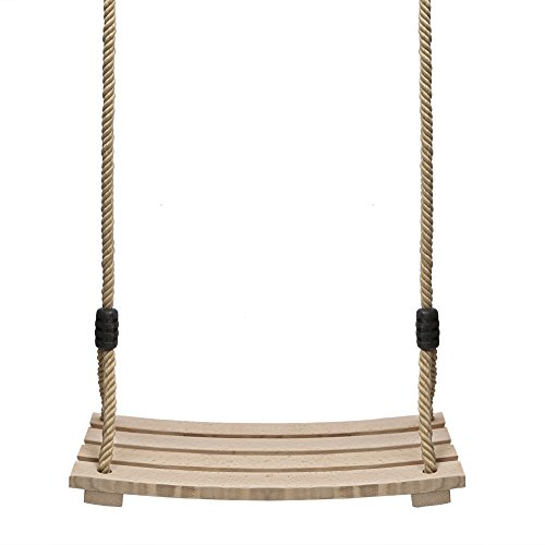 Pellor Indoor Outdoor Wood Tree Swing Seat Chair Child Adult Kid 17.7x7.9x0.6 inch by Pellor