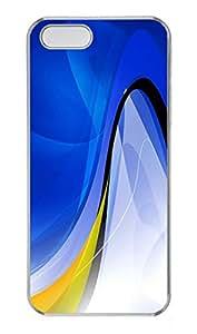 iPhone 5 5S Case Blue Swirls PC Custom iPhone 5 5S Case Cover Transparent