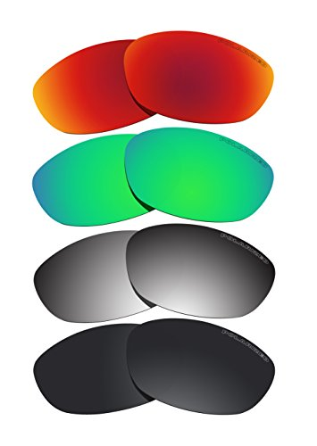 4 Pairs Lenses Replacement Polarized D2 for Oakley Fives 2.0