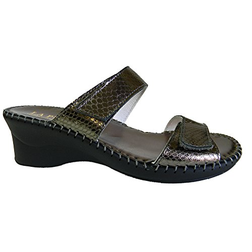 Nina Sandals Pewter La Womens Plume 4Ow7qg5q