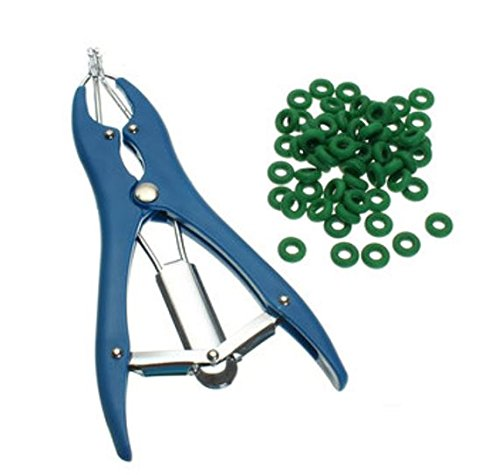 Sheep Castration/Banding/Tail Docking/Applicator/100 Rings/Cattle/Marking/Farm by shopidea ()