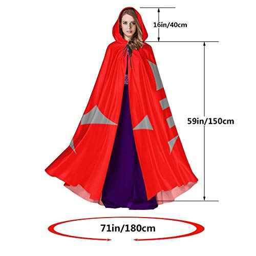 Hooded Cloak Long Cape for Halloween Halloween Pumpkin Carving Stencils Boo Cosplay Costumes 59inch Unisex Adult Black