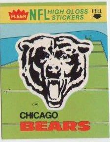 1981 Fleer NFL Football Chicago Bears Sticker/Schedule ()
