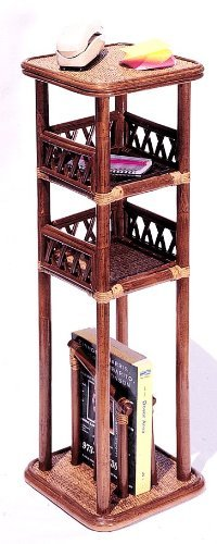 (Rattan Wicker Naples Telephone Stand)