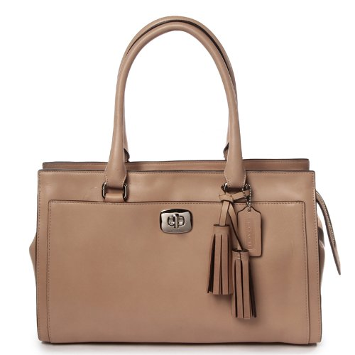 COACH Legacy Leather Chealsea Carryall, Lt Khaki