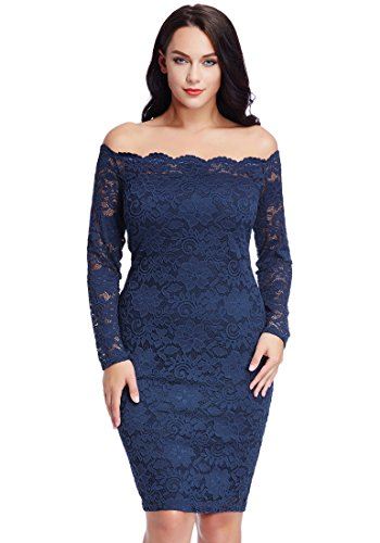 LookbookStore Womens Off Shoulder Bodycon Cocktail