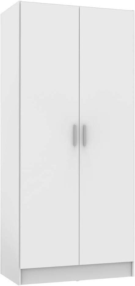 MADESA Wardrobe Storage Cabinet, 2 Doors, White