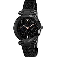 LEVERET Present 4 Diamond Analogue Dial 21st Century Magnetic Chain Analog Watch - for Women