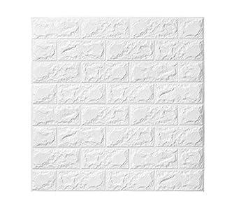 5 PCS 3D Papier Peint Brique ,autocollant De Mur De Mousse De PE Amovible  Et De ...