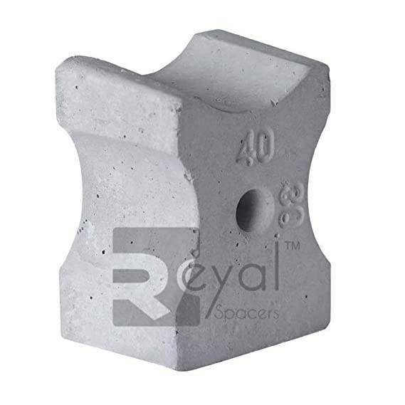 Reyal Concrete Cover Block for Beam/Column - 30mm/40mm(Multi Cover)(Model - RM3)(Strenth - M40)(Pack of 200 Nos.)