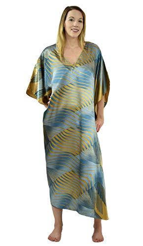 Up2date Fashion Satin Caftan, Solar Vortex Print, Plus Size, Style Caf-83 -