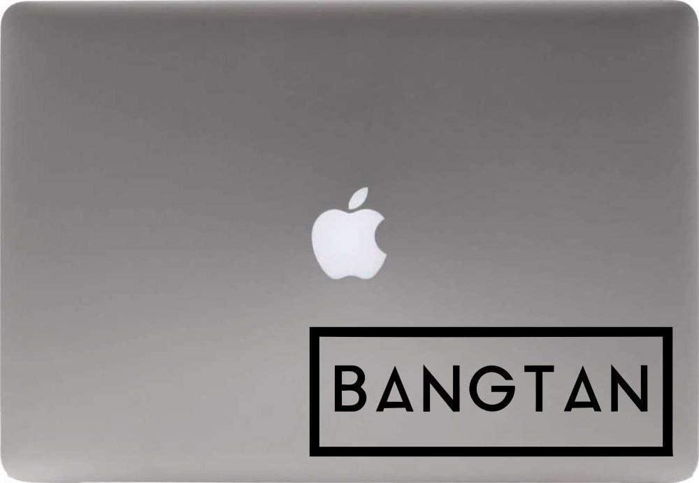 BTS Bangtan Box Vinyl Decal Sticker for Computer MacBook Laptop Ipad Electronics Home Window Custom Walls Cars Trucks Motorcycle Automobile and More (Black)