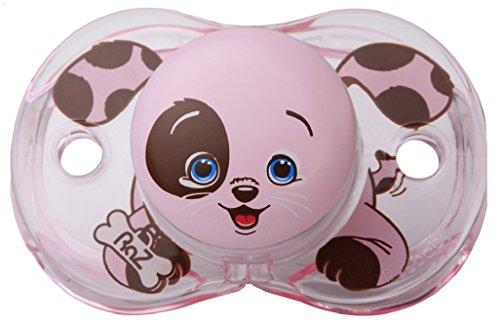 RaZbaby Keep-It-Kleen Pacifier, Pink Percy Puppy