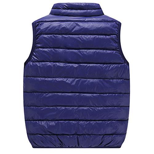 Fulision Venta caliente del invierno de los bebés niños niños chaqueta sin mangas de cuello alto ligero chaleco de...