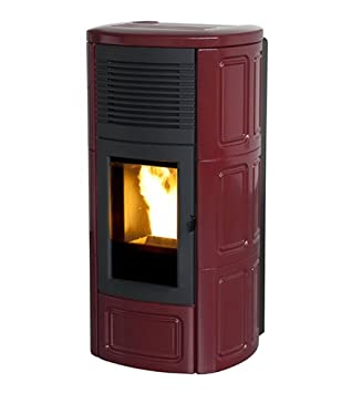 estufa de pellets MCZ Suite Air de 10 KW estructura de acero, Color Burdeos: Amazon.es: Hogar