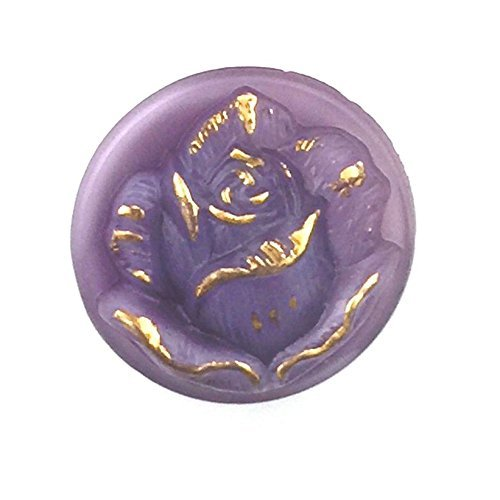 Elan Beads Czech Glass Button (1-Piece), 18mm, Rose Lavender