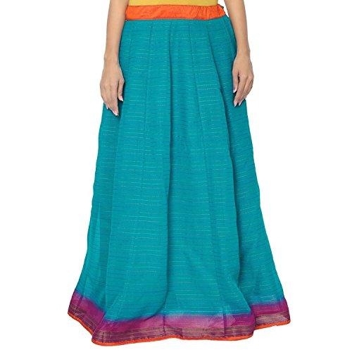 Indian Handicrfats Export Admyrin Women Blue Cotton Skirt