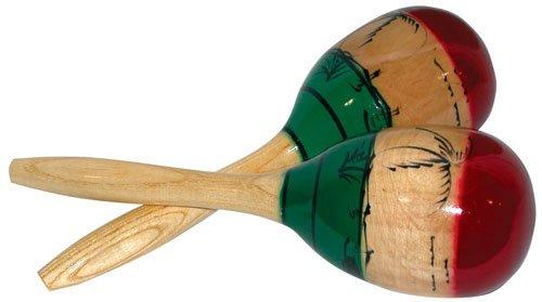Amazoncom Cannon UPMM Large Wood Maracas Musical Instruments