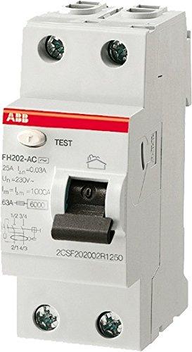 ABB ABB443151GSB 2CSF202102R1400 Interrupteur diff/érentiel Bipolaire-Type a-40 amp/ères Gris