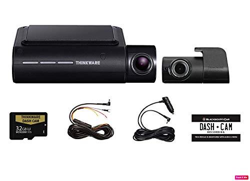 THINKWARE F800 PRO 2 Channel HD Dash Camera | 32GB Micro SD Card with Hardwiring Kit | Wifi Capability ()