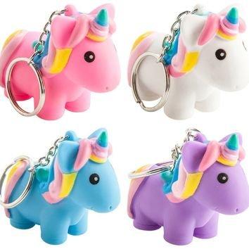Squeeze and Poop Glittered Poop Mini Unicorn Toy Figure Keychain Figure Toys Keychain