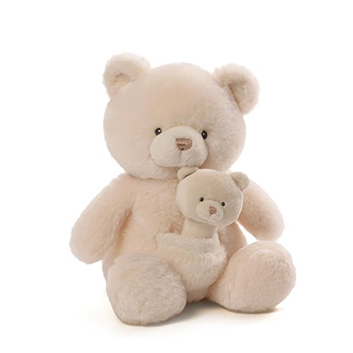 Gund Baby Oh So Soft Bear & Rattle Combo Celebration Teddy Bear