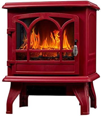 電気スペースヒーター-赤外線暖炉ヒーター1400W強力な電力、大型スペースヒーター高速暖房システム、オフィスの家の安全のためのポータブル暖炉ストーブオーバー&過熱保護,赤