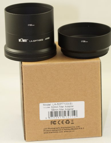 Lens / Filter Adapter Tube For Nikon Coolpix P7100 52mm & 58