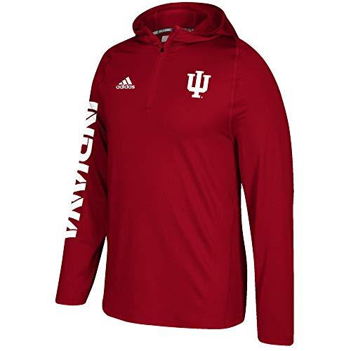 adidas Indiana Hoosiers NCAA Men's Red Sideline 1/4 Zip Training Hoodie