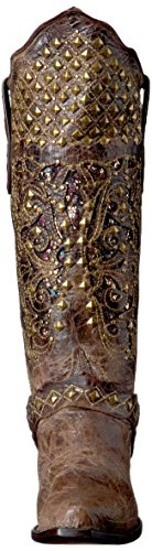 Ferrini Womens Rebel Dist V-Toe Western Boot Distressed Chocolate vxdJI6Xt