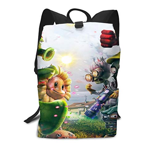 Outdoor Leisure Sports School Travel Backpack Casual Daypack-Plants Vs Zombies]()