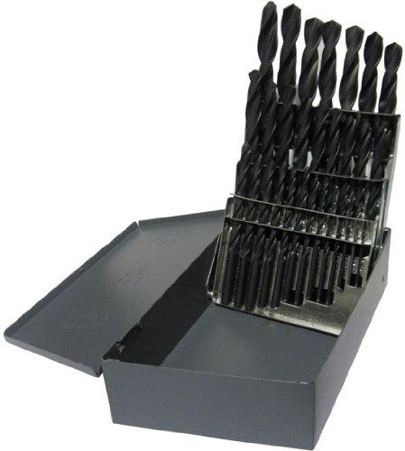Drill America D/A29S-SET 29 Piece High Speed Steel Screw Machine (Stub) Drill Bit Set (1/16″ – 1/2″ x 64ths), D/AST Series