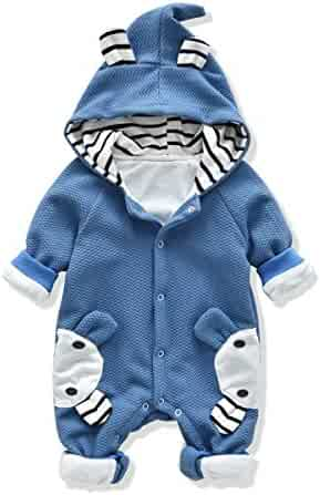 328e022236 LVYINLI Baby s Rompers Baby Boys Girls Clothes Baby Sculpt Rompers Baby  Winter Warm Clothes Babys Hoodie