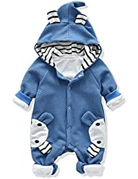 Baby's Rompers Baby Boys Girls Clothes Baby Sculpt Rompers Baby Winter Warm Clothes Babys Hoodie