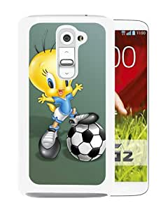 Popular Sell cartoon tweety bird White Durable LG G2 Protective Skin Cover Case