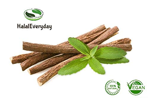 African Chew Sticks - Natural Licorice Root Sticks -1/2 Lb Approximately 20-30 Sticks - Individual sticks are approximately 6 inches long - All Natural, Vegan, Halal ()