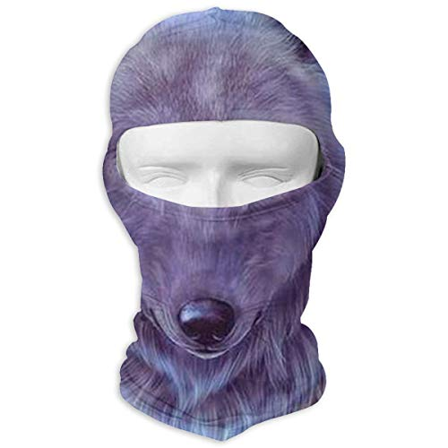 Drawing Wolf Face Ski Mask - Breathable Lightweight Adjustable Full Face Ski Mask for Wind Dust Pollution Rain Sun -