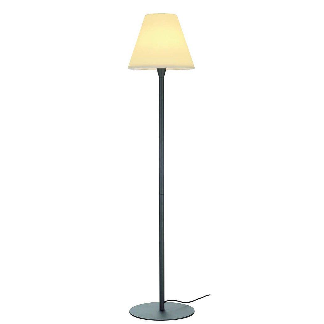 SLV Lighting 228965U Adegan Outdoor Floor Lamp, Stainless Steel/Anthracite
