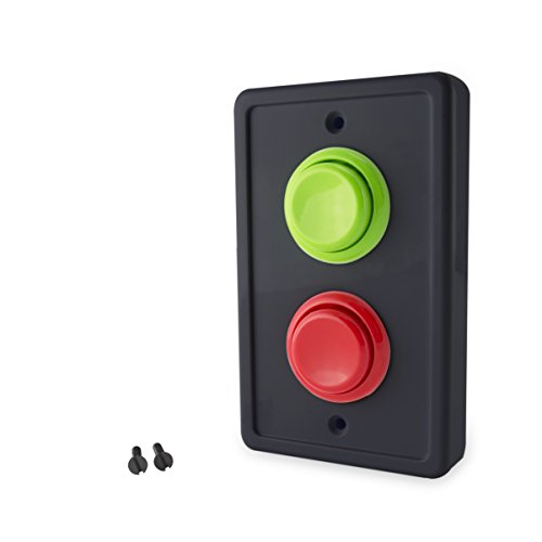 Arcade Light Switch Plate Cover, Single Switch (Black/Green,Red), 1-Gang Standard Size Rocker Wall Plate, Game Room Decorator, Kid Bedroom Wallplate, Faceplate Replacement (Black/Green/Red)