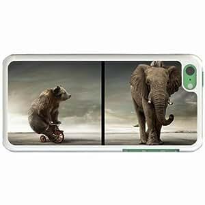 Lmf DIY phone caseCustom Fashion Design Apple iphone 5c Back Cover Case Personalized Customized Diy Gifts In Bearelephant WhiteLmf DIY phone case