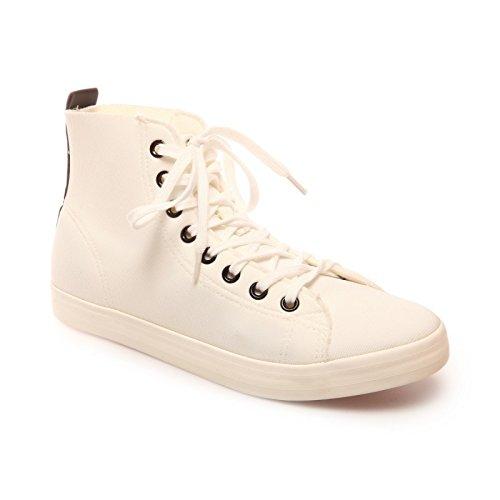 La Modeuse-zapatillas ascendentes flexibles, diseño de tela Blanco - blanco
