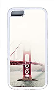 iPhone 5C Cases & Covers - San Francisco Golden Gate Fog Mist Custom TPU Soft Case Cover Protector for iPhone 5CšCWhite