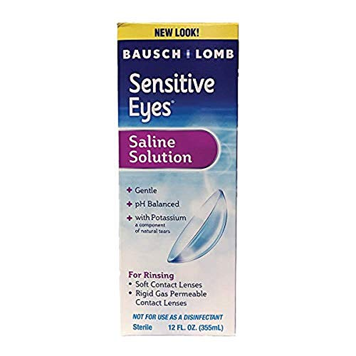 Sensitive Eyes Contact Lens Solution by Bausch & Lomb Saline Solution for Sensitive Eyes, Soft Contact & Gas Permeable…