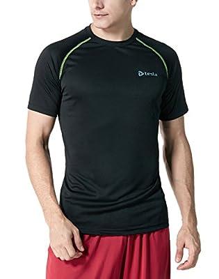 Tesla Men's Lightweight HyperDri Cool T Shirt Running Short Sleeve Top MTS03