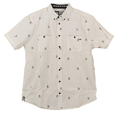 Crew Mens Clothing - Salty Crew Mini Marls SS Button Down Shirt - Natural - L