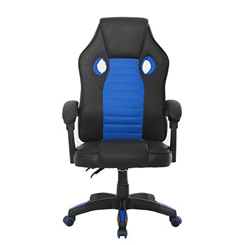 Muebles, Sedia da gaming, da ufficio, per computer, videoconferenza, design ergonomico, con braccioli e schienale alto…
